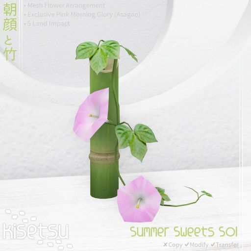 flower arrangement bamboo and morning glory
