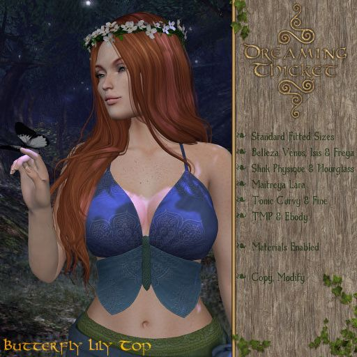 DreamingThicket-Poster-ButterflyLilyTop-Iris