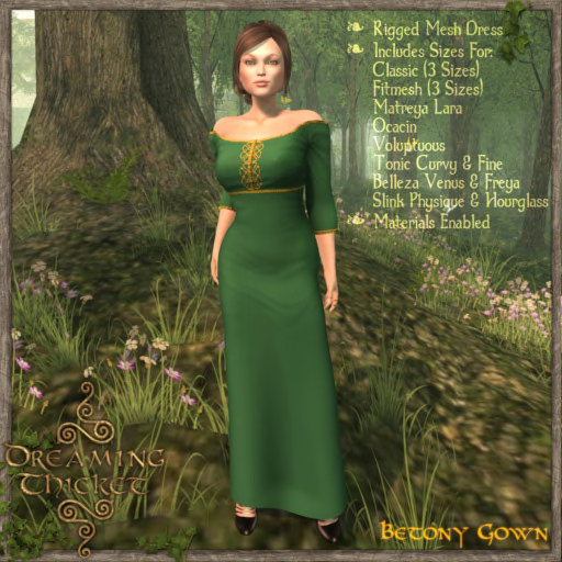 woods background, woman wearing leaf gown