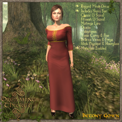 woods background, woman wearing rose gown